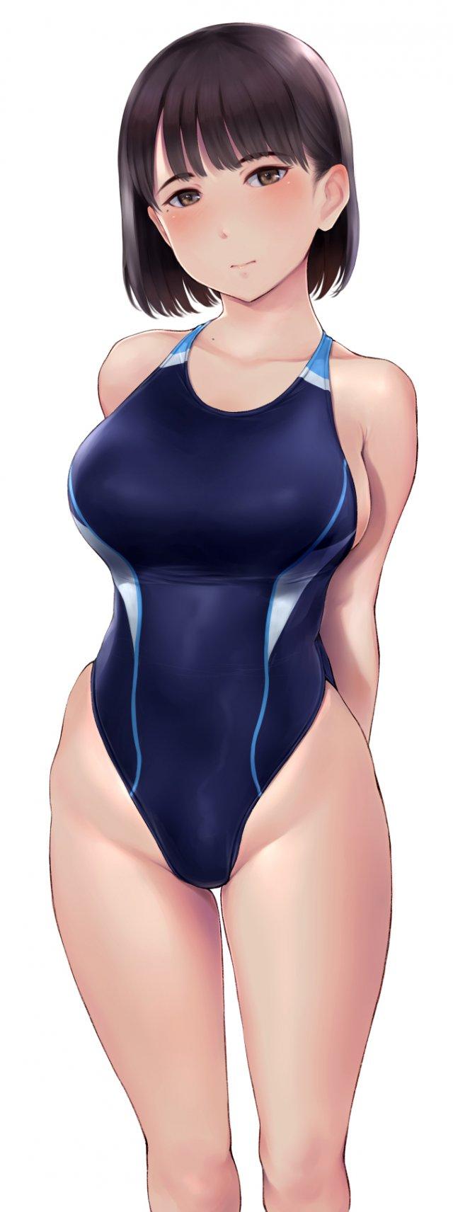 【二次】競泳水着を着た女の子の画像 その2